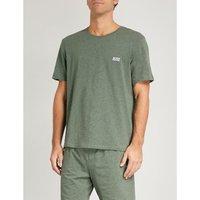 Crewneck stretch-cotton pyjama top