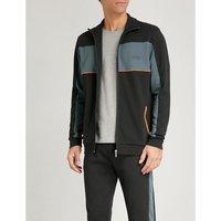 Panelled cotton-blend sweatshirt