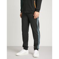 Relaxed-fit tapered cotton-blend jogging bottoms