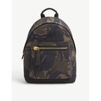 Camouflage nubuck backpack