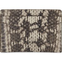 Elaphe snakeskin card holder