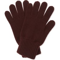 Johnstons Mens Brown Ribbed Comfortable Cashmere Gloves
