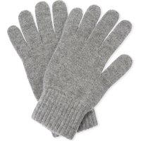 Johnstons Mens Light Grey Ribbed Luxury Cashmere Gloves