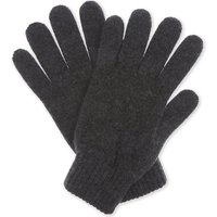 Johnstons Mens Charcoal Ribbed Luxury Plain Cashmere Gloves