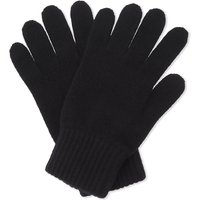 Johnstons Mens Black Ribbed Classic Cashmere Gloves