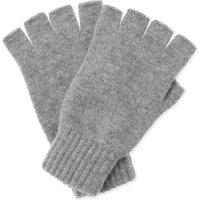 Plain cashmere fingerless gloves