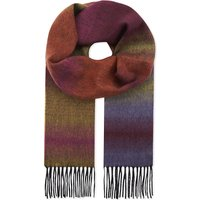 Fade stripe lambswool and cashmere scarf