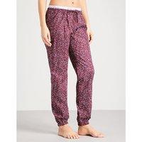 Star-print cotton pyjama bottoms
