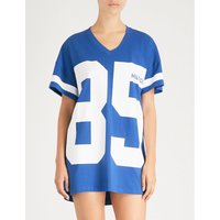 Logo stretch-jersey night dress