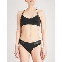 Silhouette microfibre cropped top