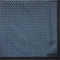 Geometric print silk pocket square