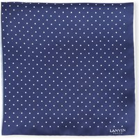 Lanvin Polka dot pocket square, Mens, 4 colours/ blue