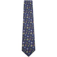Jungle scene silk tie
