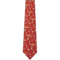 Holiday silk tie