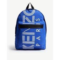 Kenzo Blue Stripe Logo Zipped Backpack