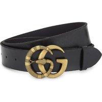 Snake GG buckle leather belt