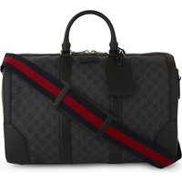 GUCCI | Gucci Mens Iconic Supreme Canvas And Leather Duffle Bag | Goxip
