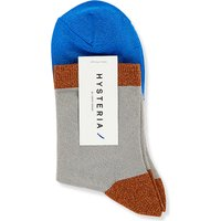Hysteria Ladies Grey Knitted Luxurious Liza Sparkle Ankle Socks, Size: S/M