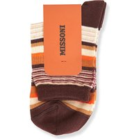 Abstract striped short socks