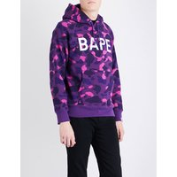 Camouflage ape-print cotton-jersey hoody