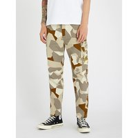 Splinter camouflage cotton-drill cargo trousers