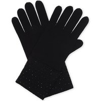 William Sharp Ladies Dark Grey Embellished Luxury Crystal Cashmere Gloves