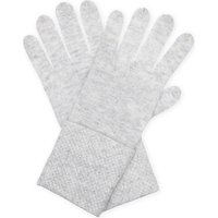 William Sharp Ladies Dark Grey Knitted Luxury Crystal Embellished Cashmere Gloves