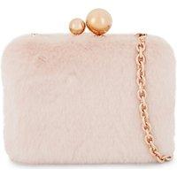 Sophia Webster Ladies Pink Embossed Feminine Vivi Faux-Fur Clutch Bag