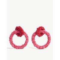 Fleur double hoop earrings