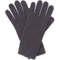 Johnstons Ladies Burgundy Solid Traditional Short Cuff Cashmere Gloves