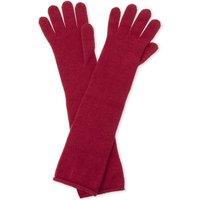 Johnstons Ladies Burgundy Luxury Long Cashmere Gloves
