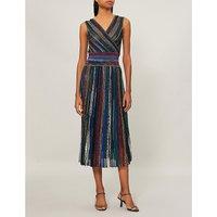 Metallix lurex wrap dress