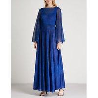 Metallic knitted maxi dress