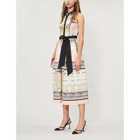 Obelisk stretch-cotton dress