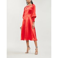 Gilda open-back satin midi dress