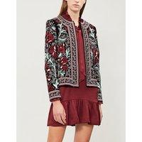Regan embroidered velvet jacket