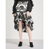 Halima high-rise lace skirt