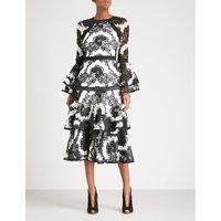 Nalani fit-and-flare lace midi dress
