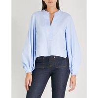 Suzanna cotton-poplin shirt