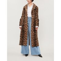 Leopard-print shearling coat