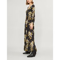 Mina crepe maxi dress