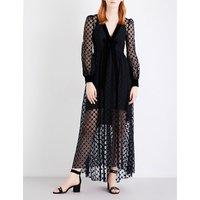 Philosophy Di Lorenzo Serafini Ladies Black Feminine Geometric Lace Dress, Size: 8