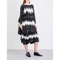 Gizagiza geometric-print pleated dress