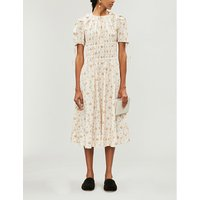 Orsolina floral-print cotton midi dress