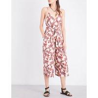 Hot Tropics printed crepe jumpsuit