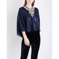 Champagne Dreams sequinned top
