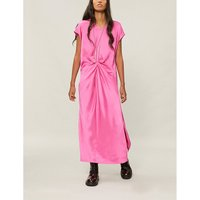 Twisted-detail satin dress