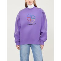 Logo-embroidered cotton-jersey sweatshirt