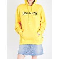 Yellow London cotton-jersey hoody