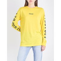 Disorder cotton-jersey top
